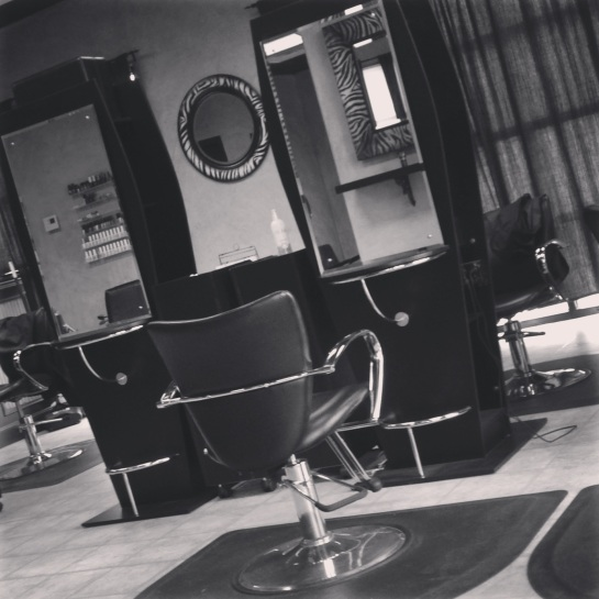 Took this while I was at the salon.